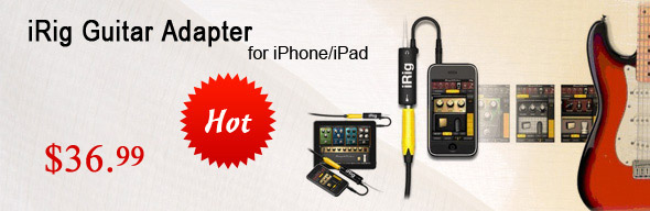 IK Multimedie iRig Guitar Adapter for iphone ipod ipad