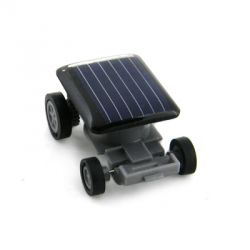 Low Power Micro Motor Solar Car - Blue