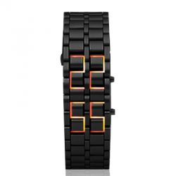 LED Digital Watch for Woman-Red light/Black