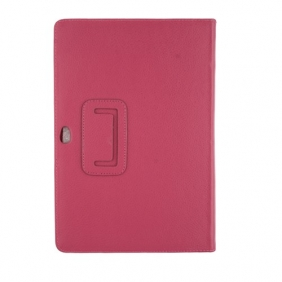 "10.1"" Leather Stand Case Protective Smart Cover for Samsung Galaxy Tab P7510 - Rose"