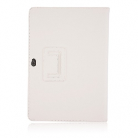 "10.1"" Leather Stand Case Protective Smart Cover for Samsung Galaxy Tab P7510 - White"