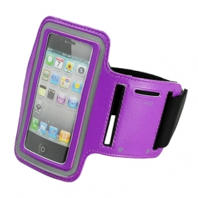 Sport Armband Arm Strap Cover Case Holder for iPhone iPod Touch - Purple