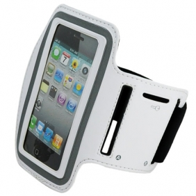 Sport Armband Arm Strap Cover Case Holder for iPhone iPod Touch - White