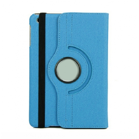 360 Degree Rotary Flip Stand Leather Case for iPad Mini 2 With Reina display - Blue