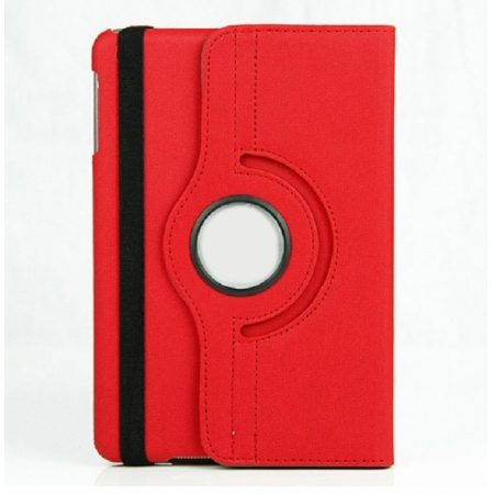 360 Degree Rotary Flip Stand Leather Case for iPad Mini 2 With Reina display - Red