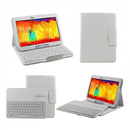 Newest Removable Wireless Bluetooth Keyboard Case For Samsung Galaxy Tab Pro 10.1 T520 - White