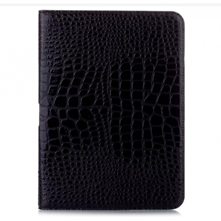 Crocodile Pattern PU Leather Smart Stand Case for Samsung Galaxy Tab 4 10.1 T530 - Black