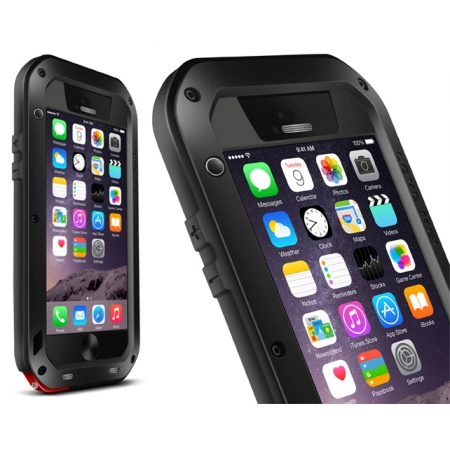 Black Water/Drop/Shockproof Metal Skin Aluminum Waterproof Case for iPhone 6/6S 4.7 Inch