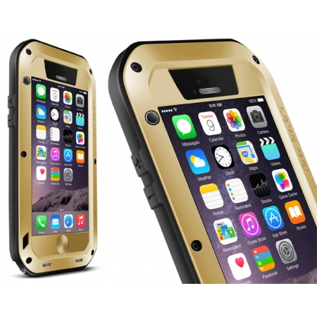 Champagne Water/Drop/Shockproof Metal Skin Aluminum Waterproof Case for iPhone 6/6S 4.7 Inch