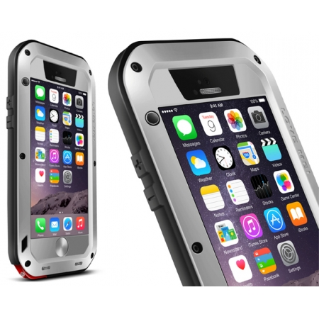 Silver Water/Drop/Shockproof Metal Skin Aluminum Waterproof Case for iPhone 6/6S 4.7 Inch