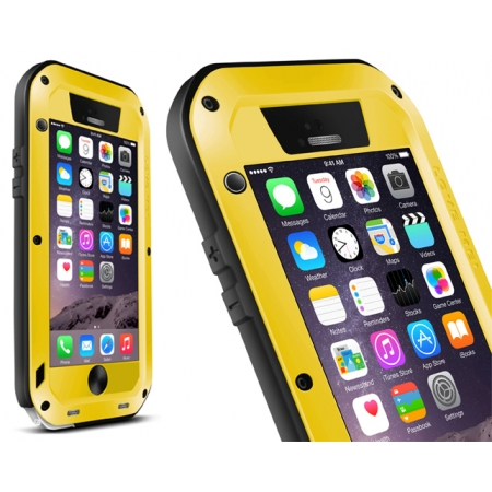 Yellow Water/Drop/Shockproof Metal Skin Aluminum Waterproof Case for iPhone 6/6S 4.7 Inch
