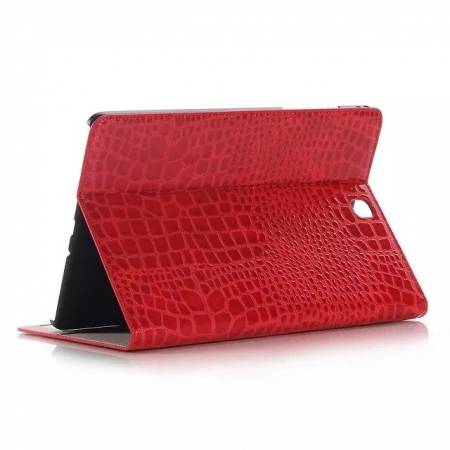 Red Crocodile wallet Leather Case cover for Samsung Galaxy Tab A 9.7 T550 with stand and card slots