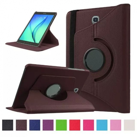 Brown 360 Rotating Leather Stand Case Cover for Samsung Galaxy Tab S2 9.7 T815