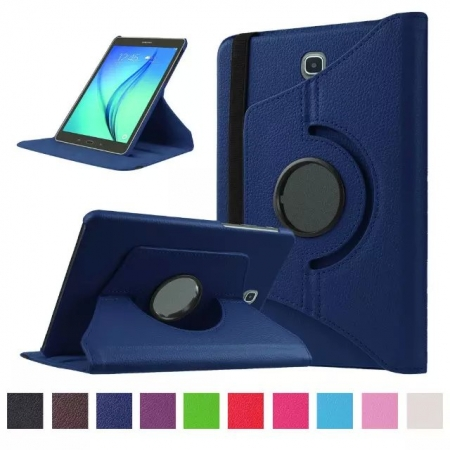 Dark blue 360 Rotating Leather Stand Case Cover for Samsung Galaxy Tab S2 9.7 T815