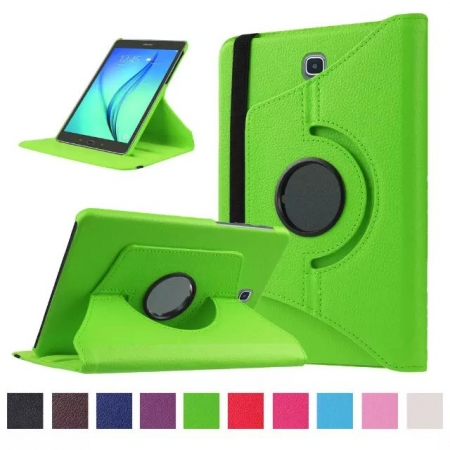 Green 360 Rotating Leather Stand Case Cover for Samsung Galaxy Tab S2 9.7 T815
