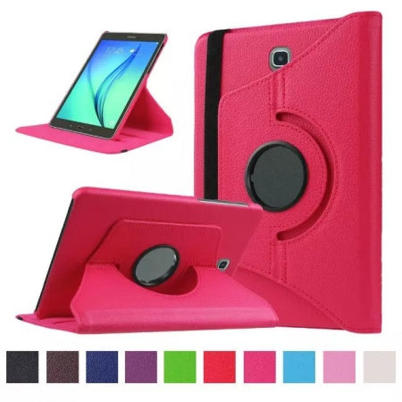 Hot pink 360 Rotating Leather Stand Case Cover for Samsung Galaxy Tab S2 9.7 T815