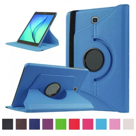 Light blue 360 Rotating Leather Stand Case Cover for Samsung Galaxy Tab S2 9.7 T815
