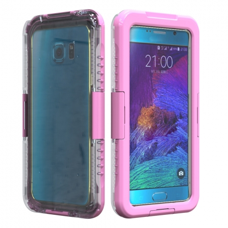 Pink Waterproof Shockproof SnowProof DirtProof Durable Cover Hard Case for Samsung Galaxy Note 5