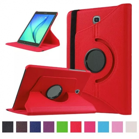 Red 360 Rotating Leather Stand Case Cover for Samsung Galaxy Tab S2 9.7 T815