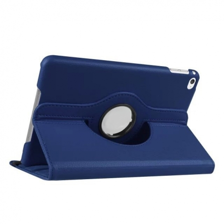 Dark blue 360 Degrees Rotating Stand PU Leather Smart Case Cover for Apple iPad mini 4