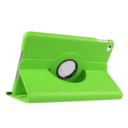 Green 360 Degrees Rotating Stand PU Leather Smart Case Cover for Apple iPad mini 4