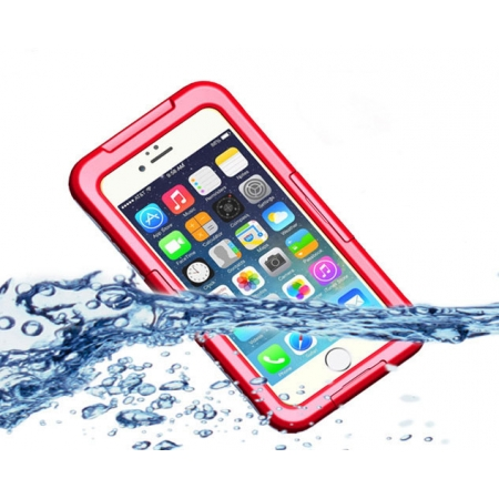 Red Waterproof Dirt Snow Proof Full-Protect Diving Case Cover For iPhone 6S Plus