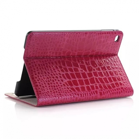 Rose New Crocodile Wallet Leather Case Cover with Stand For Apple iPad mini 4