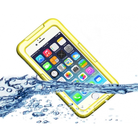 Yellow Waterproof Dirt Snow Proof Full-Protect Diving Case Cover For iPhone 6S Plus