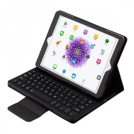 Black Detachable Wireless Bluetooth Keyboard Folio Leather Case for iPad Pro 9.7 inch