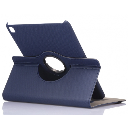 Dark Blue 360 Degree Rotay Jeans Cloth Leather Stand Case Cover For iPad Pro 9.7 Inch