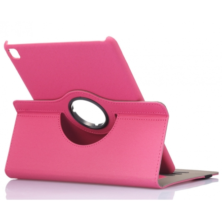 Hot Pink 360 Degree Rotay Jeans Cloth Leather Stand Case Cover For iPad Pro 9.7 Inch