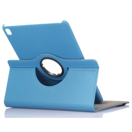 Light Blue 360 Degree Rotay Jeans Cloth Leather Stand Case Cover For iPad Pro 9.7 Inch