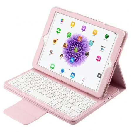 Pink Detachable Wireless Bluetooth Keyboard Folio Leather Case for iPad Pro 9.7 inch
