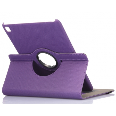 Purple 360 Degree Rotay Jeans Cloth Leather Stand Case Cover For iPad Pro 9.7 Inch