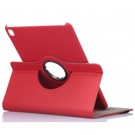 Red 360 Degree Rotay Jeans Cloth Leather Stand Case Cover For iPad Pro 9.7 Inch