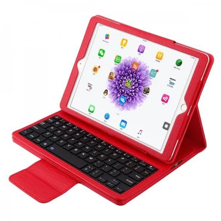 Red Detachable Wireless Bluetooth Keyboard Folio Leather Case for iPad Pro 9.7 inch
