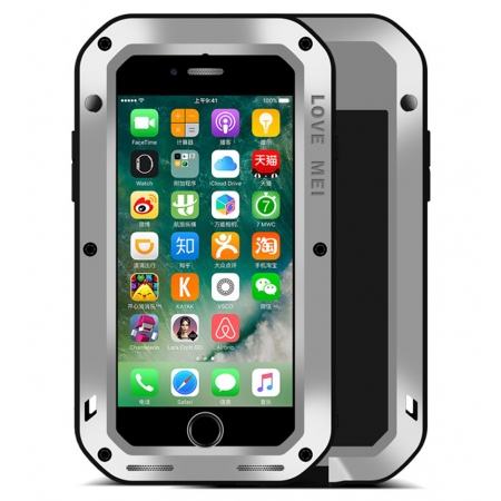Silver Waterproof Shockproof Aluminum Gorilla Glass Metal Case For New iPhone 7