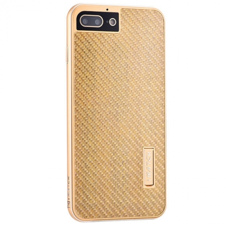 Gold Aluminum Metal Carbon fiber Hard Back Cover Case for iPhone 7