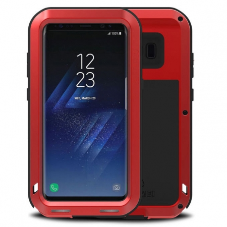 Red Aluminum Metal Anti-Drop Cover Outdoor Sport Dirt Shockproof Protective Armor Case For Samsung Galaxy S8