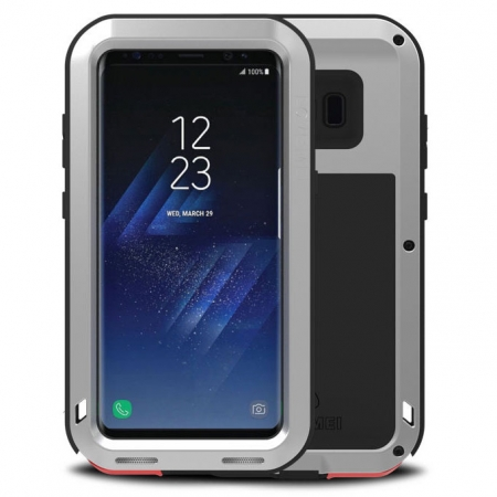 Silver Aluminum Metal Anti-Drop Cover Outdoor Sport Dirt Shockproof Protective Armor Case For Samsung Galaxy S8