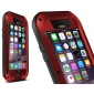 Red Best Quality Waterproof Shockproof Aluminum Case For iPhone 6 Plus/6S Plus 5.5 Inch