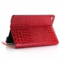 Red New Crocodile Wallet Leather Case Cover with Stand For Apple iPad mini 4