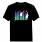 EL T-Shirt Sound Activated Flashing T Shirt Light Up Down Music Party Equalizer LED T-Shirt EF32