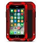 Red Waterproof Shockproof Aluminum Gorilla Glass Metal Case For New iPhone 7