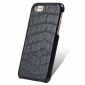 Black Real Leather Crocodile Skin Pattern Protector Back Cover Case For iPhone 7
