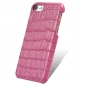 Hot Pink Real Leather Crocodile Skin Pattern Protector Back Cover Case For iPhone 7