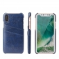 Dark Blue Luxury Oil wax PU Leather Flip Back Cover Card Holder Case For iPhone X