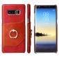 Red Ring Holder Genuine Leather Case for Samsung Galaxy Note 8