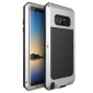 Silver Aluminum Metal Water Resistant Shock Dust proof Case For Samsung Galaxy Note 8
