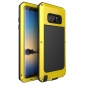 Yellow Aluminum Metal Water Resistant Shock Dust proof Case For Samsung Galaxy Note 8